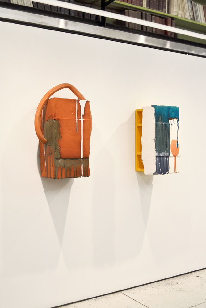 "Nicole Cherubini's ""White Drip with Arch"" and ""Lazy River"" (both 2012), Courtesy the artist and Tracy Williams Ltd."