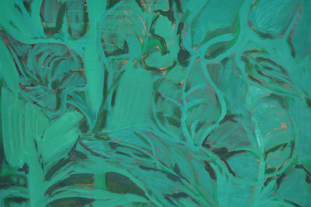 Kristina Lee,  W.I.R.I.T.F. 2  (detail), 2013, Acrylic and oil on canvas, 40 x 30 inches