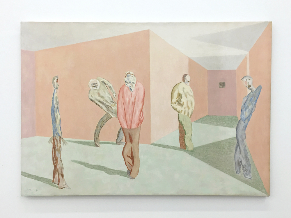 David Byrd,  Waiting and Aging , 1989, Oil on canvas, 23 x 33 inches;  The Patients and the Doctors , Zieher Smith & Horton, NY. (Photo: Chris Murtha)