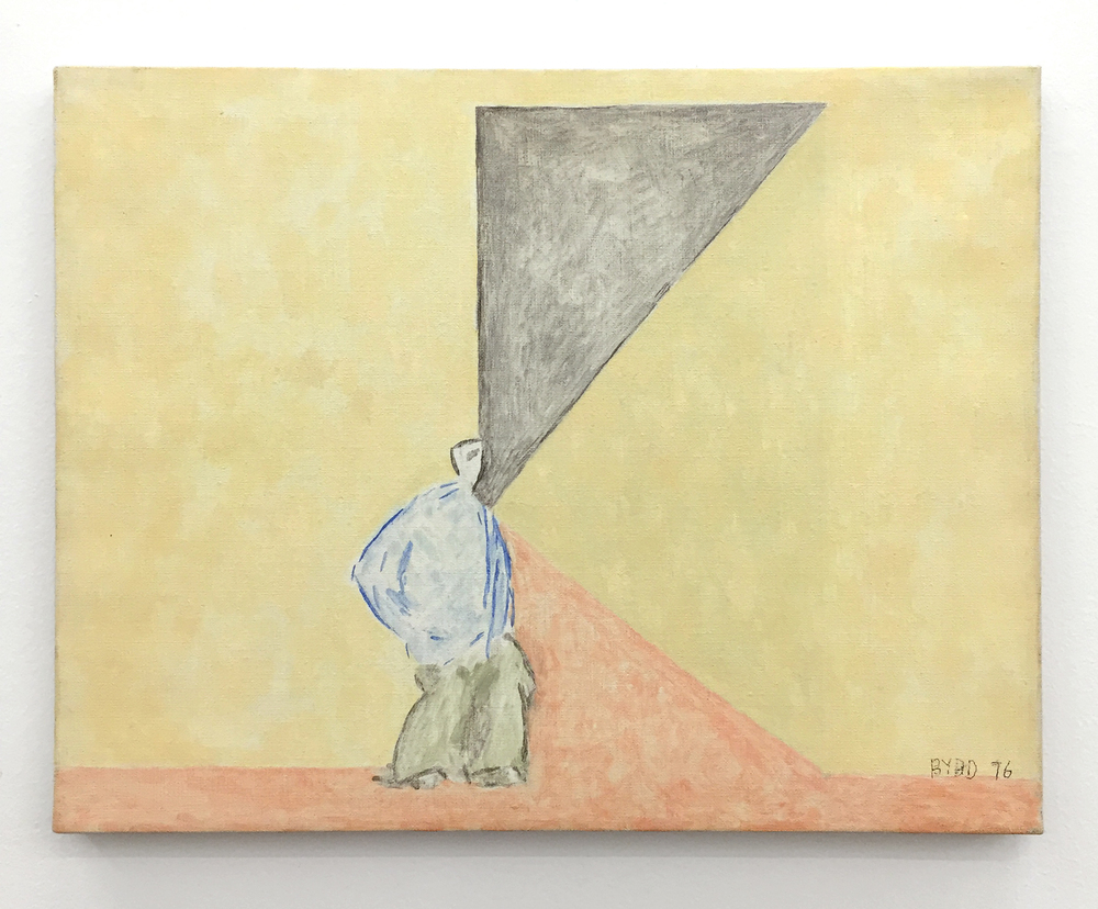 David Byrd,  Patient in Corridor , 1976, Oil on canvas, 14 x 18 inches;  The Patients and the Doctors , Zieher Smith & Horton, NY. (Photo: Chris Murtha)