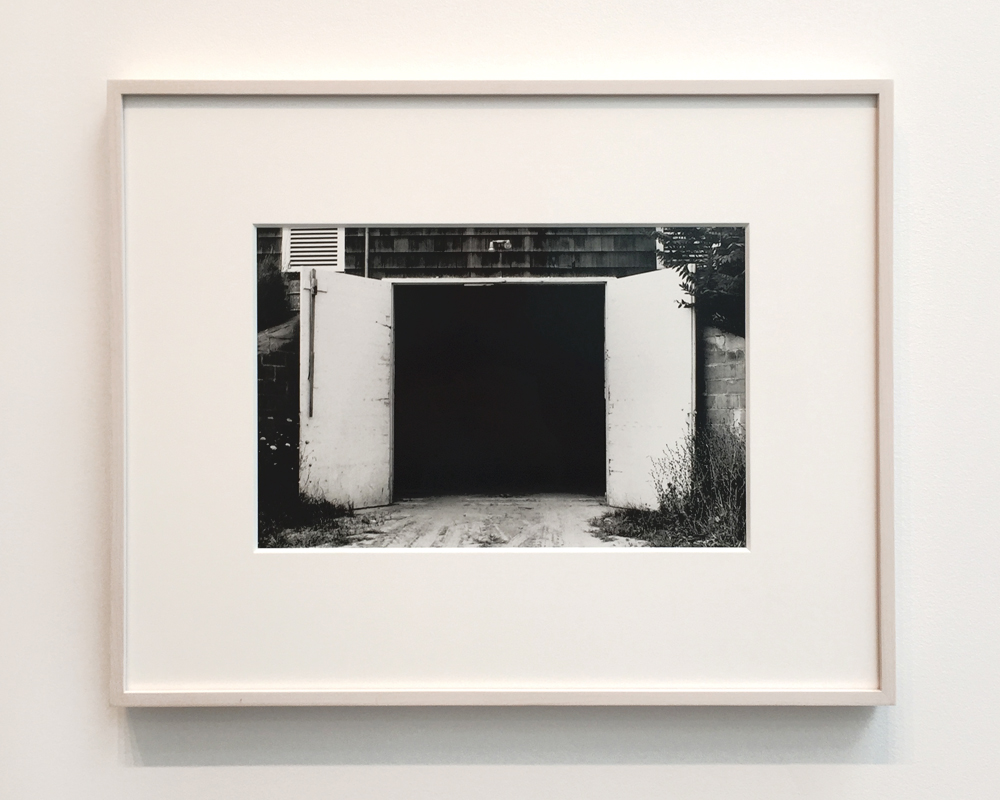 Potato Barn, Southampton , 1968, Gelatin silver print, 8 1/2 x 13 inches; Above:  Doorway, Belle-Île-en-Mer , 1977, Gelatin silver print, 12 7/8 x 8 1/2 inches. (Photos: Chris Murtha)