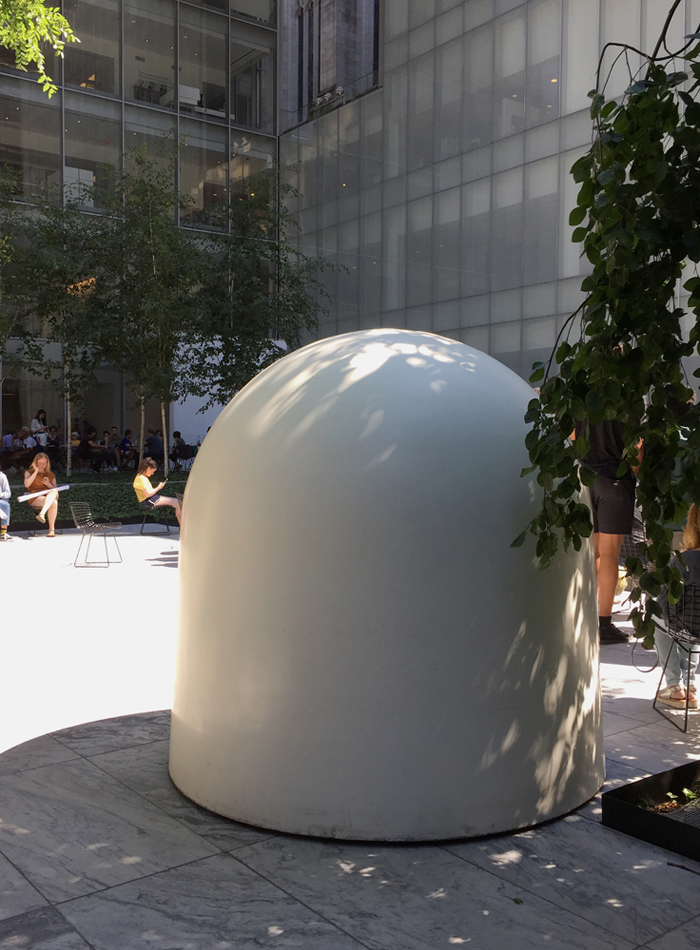 Robert Breer's  Osaka I  (1970) in MoMA's Sculpture Garden, July 2018. Photo: Chris Murtha
