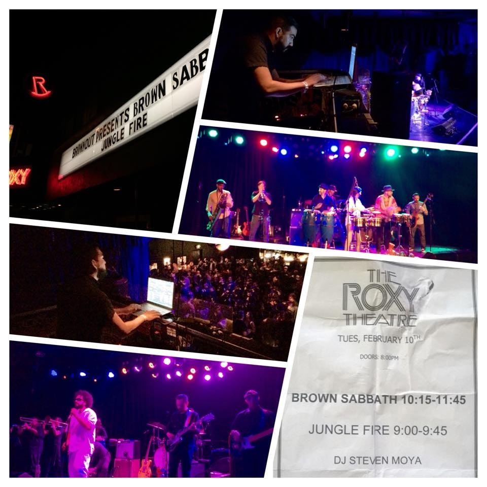 with Brownout at the Roxy West, Hollywood
