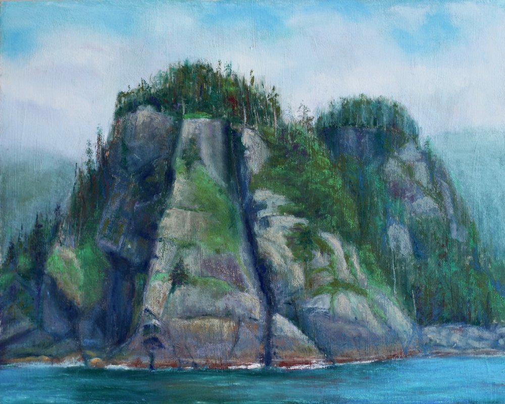 """Pacific Outcrops"", pastel on panel, 16"" x 20""  Sold"