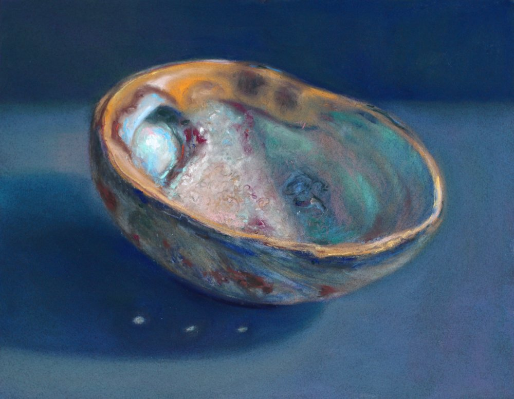 """Abalone I"" (Haida Gwaii Series) pastel on board, 11"" x 14""  Sold"