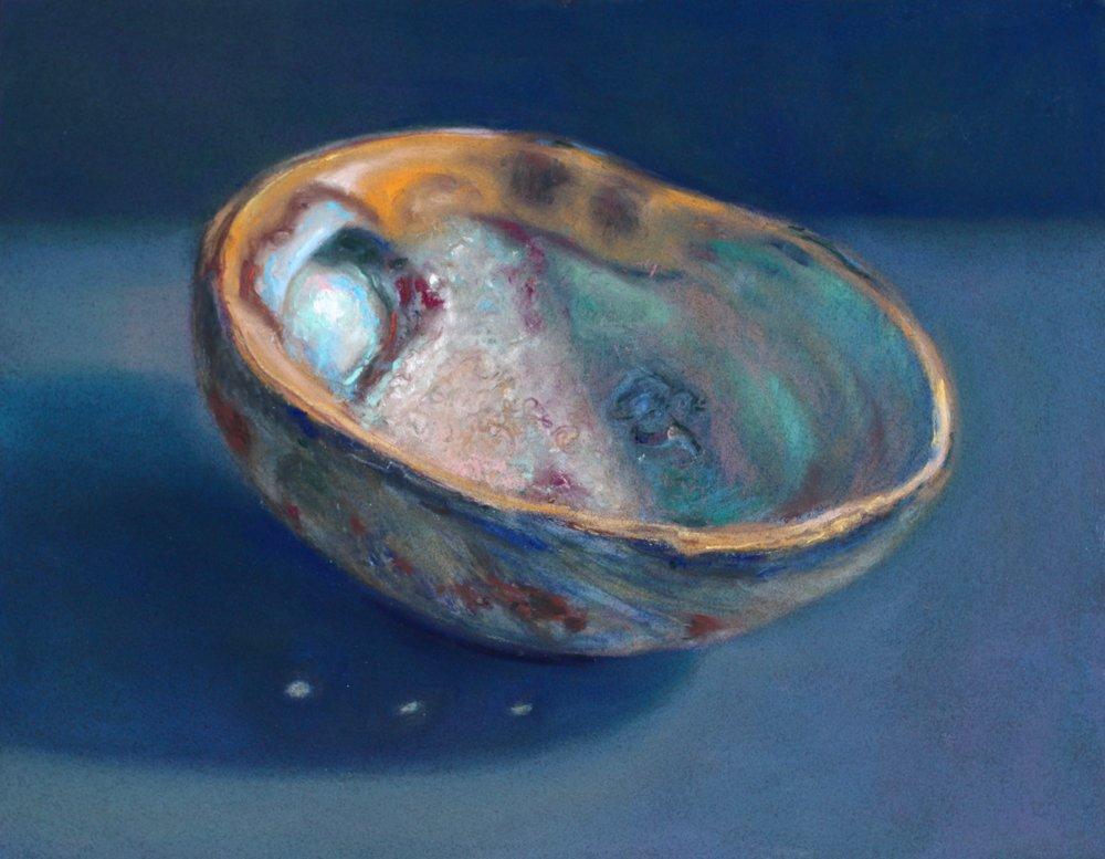 """""""Abalone I"""" (Haida Gwaii Series) pastel on board, 11"""" x 14"""" Sold"""