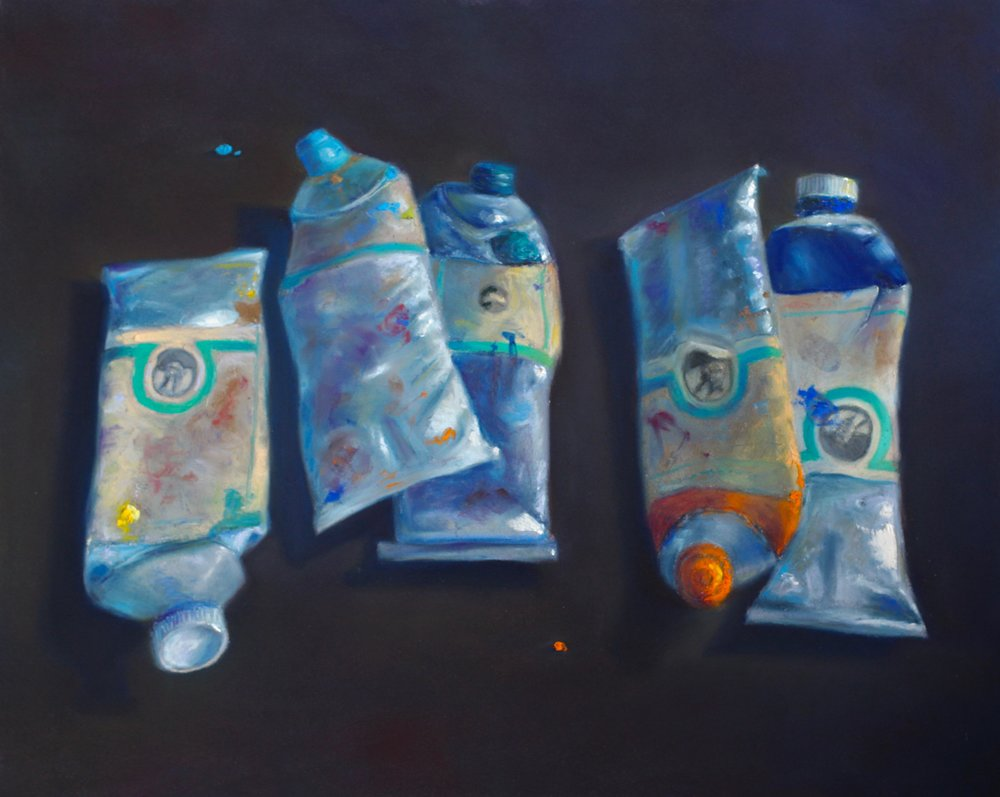 """Maestro's Tubes"" (Old Holland Series #5) - pastel on board - 16"" x 20""  • Sold"