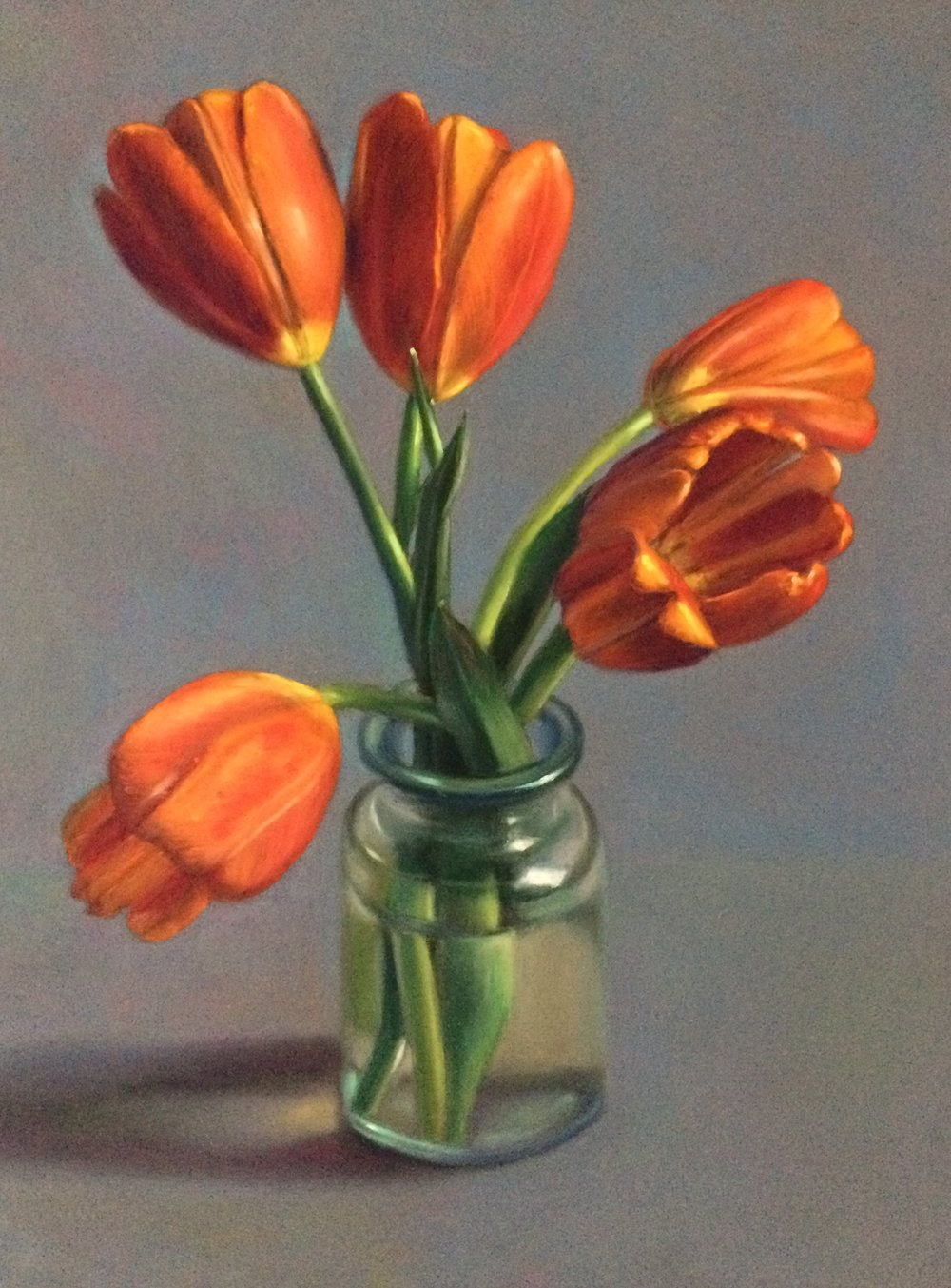 """Postcard from Holland"" - pastel on board - 24"" x 18""  • Sold"