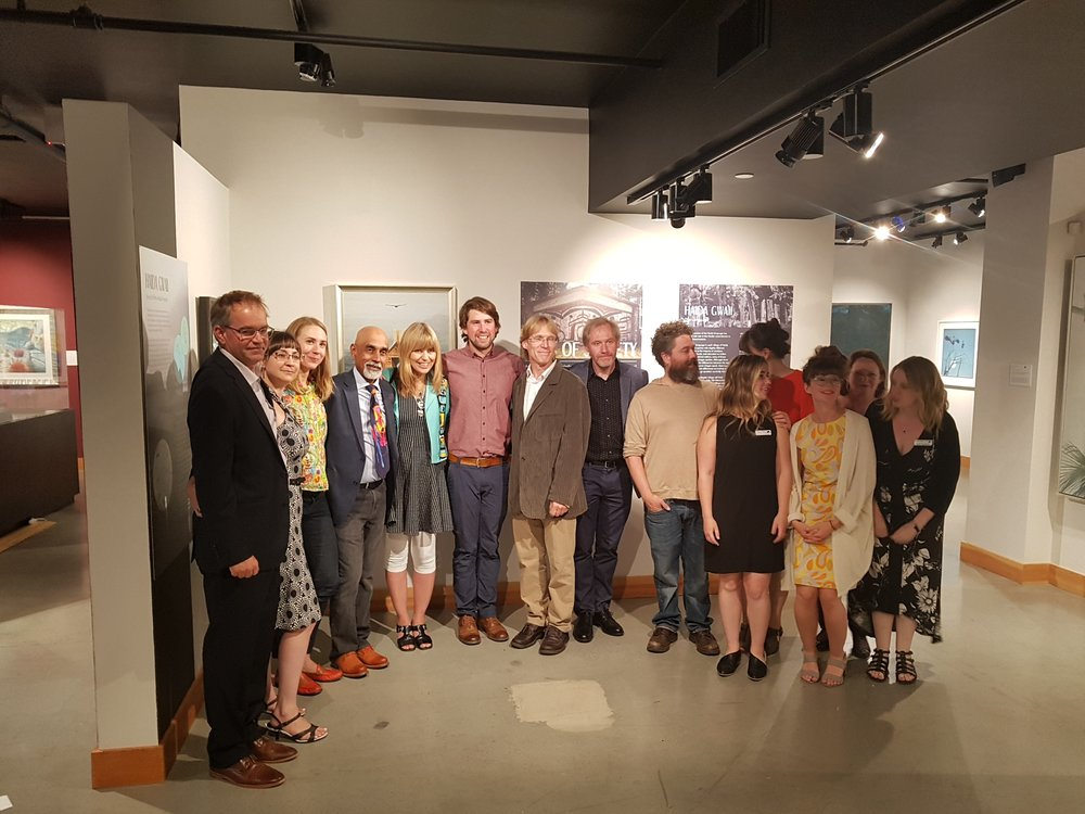 Eyes of Society  artists with Robert Bateman Centre staff