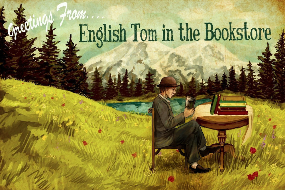 English Tom In The Bookstore