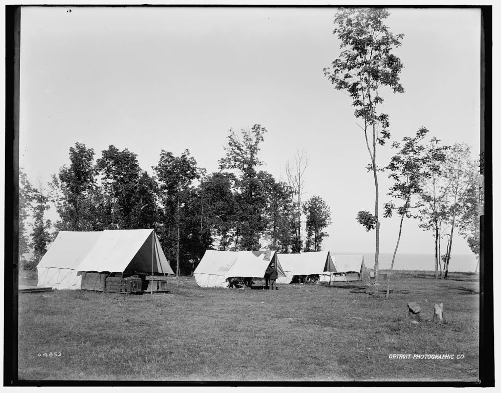 Fort Sheridan, camp ground by the lake (est 1880-1899)