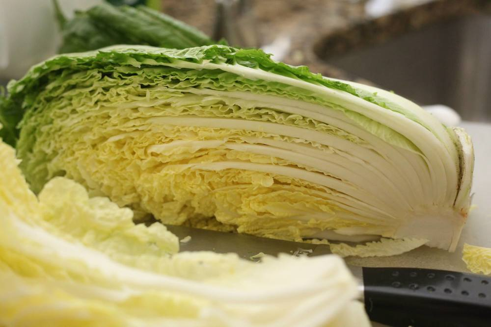 Cabbage before undergoing kimchi transformation