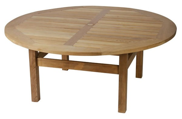 A gorgeous chunky teak garden table