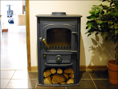 Clearview Solution, in welsh slate blue, displayed in our showroom