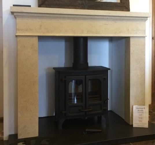 The discounted fire surround is exactly the same as the one we have on display (see photo)  - minus the hearth.  (Dimensions are 1290mm W x 1110mm H (Opening 900mm x 900mm),  Depth of jamb 150mm.  Depth of mantle shelf 170mm)