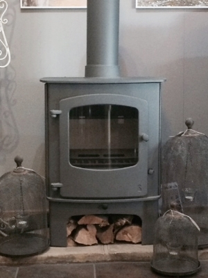 Charnwood Cove 2, with Midi Stand, gun metal colour option, as displayed in our showroom
