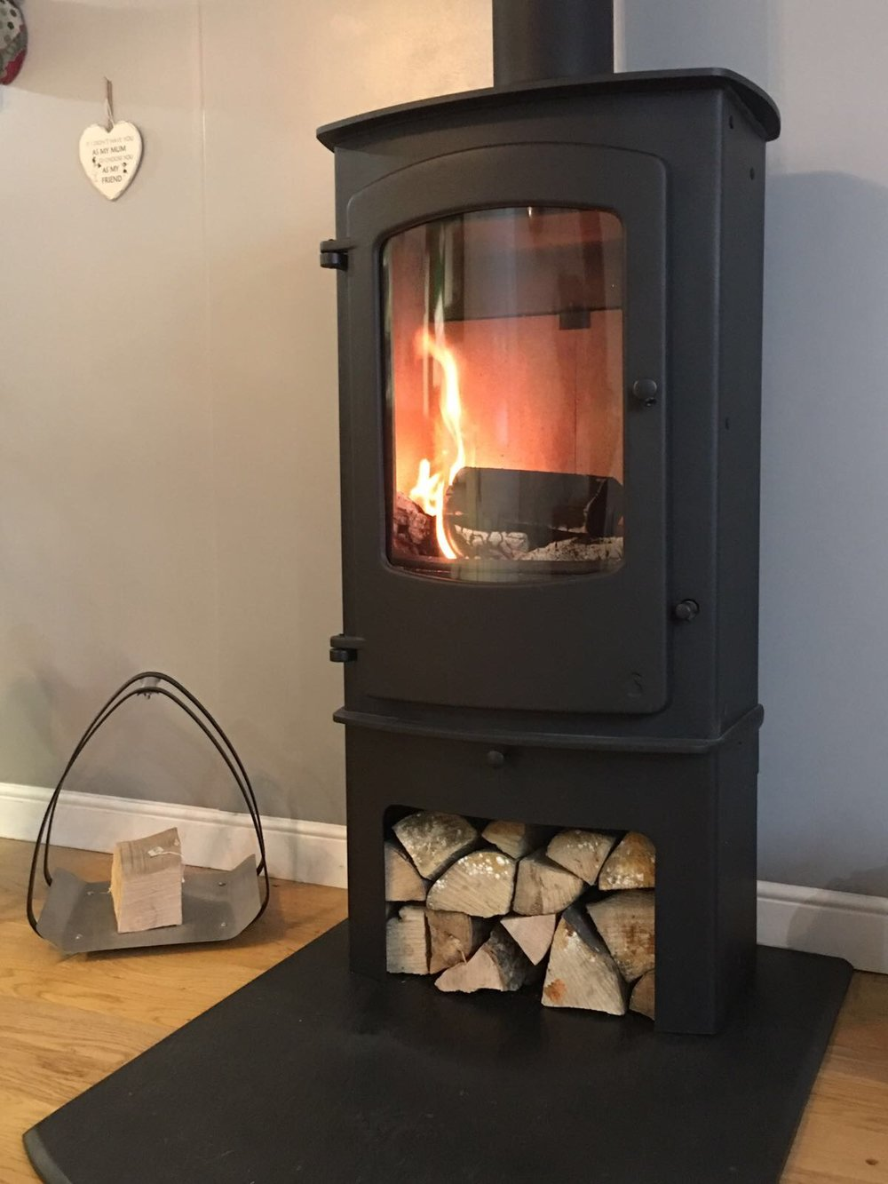 Charnwood Cove 3, with Store Stand, black, as displayed in our showroom  CURRENTLY FOR SALE AT REDUCED PRICE OF £1500.00!!!!