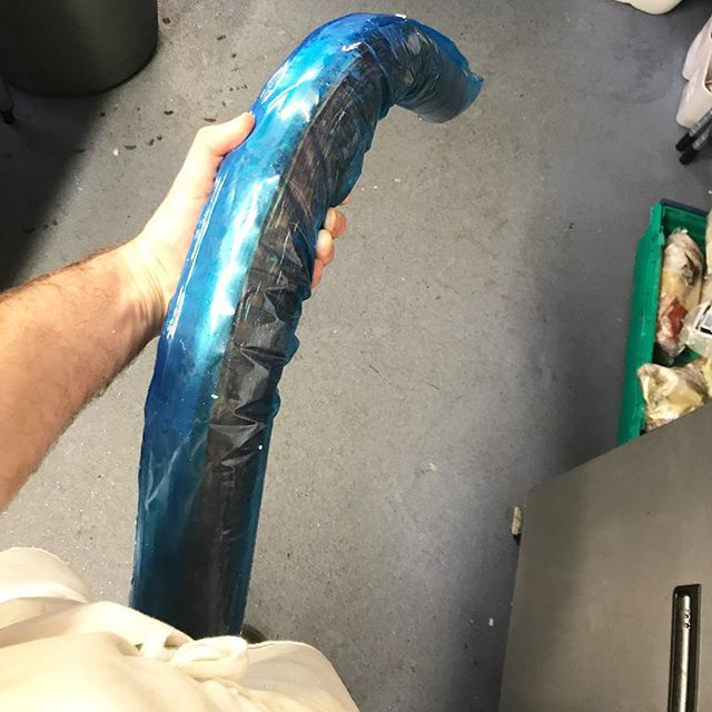 Creepy big blue covered mega catering size Chorizo for Taste this week! I'm prepping the most enormous amount of food alone so huge apologies for infantile pic!