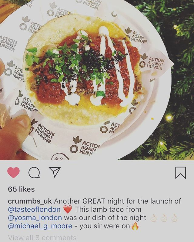 Great feedback is the best breakfast a boy can get! @acf_uk @husvedat @yosma_london @tasteoflondon @fional1981 🤗