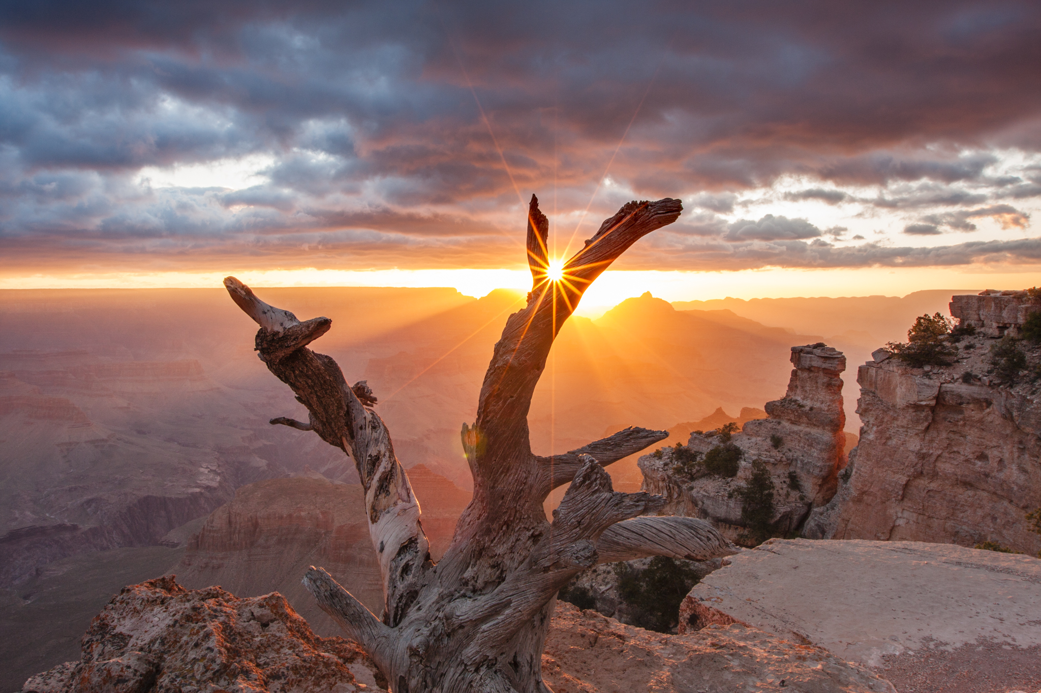 Yaki point at sunrise is a must for anyone visiting Grand Canyon National Park. This is a sunrise image just east of the viewing platform.