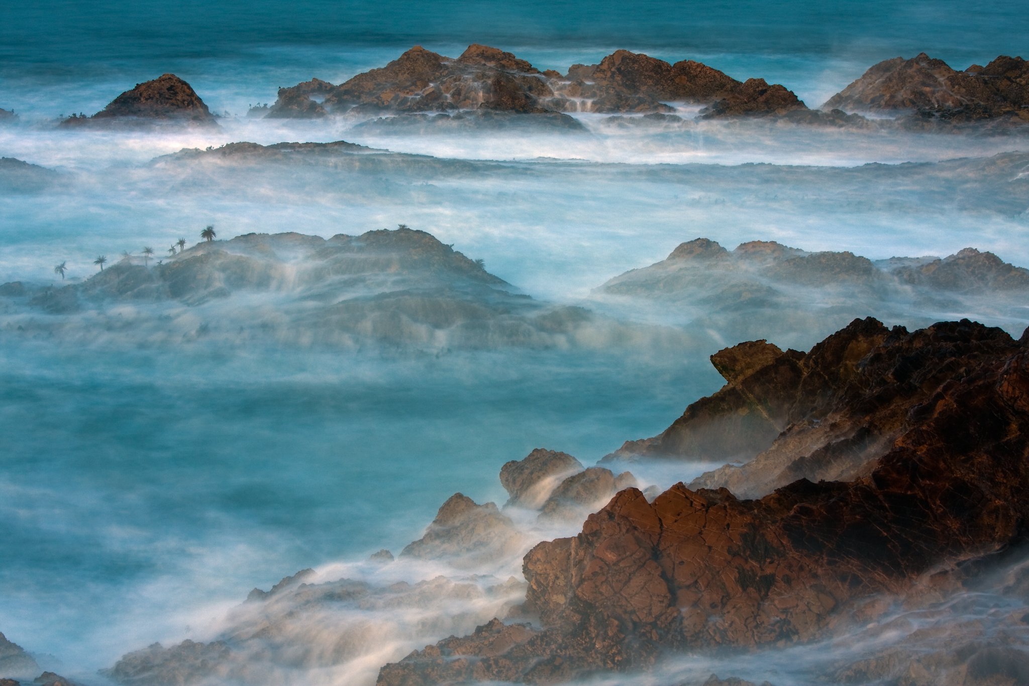 Montana de oro state park coastline has many photographic opportunities. A long exposure transformed the crashing waves to a fog like mist.