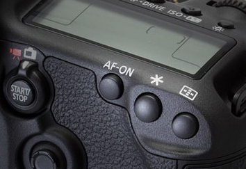 The back three buttons on a Canon 5D Mark III