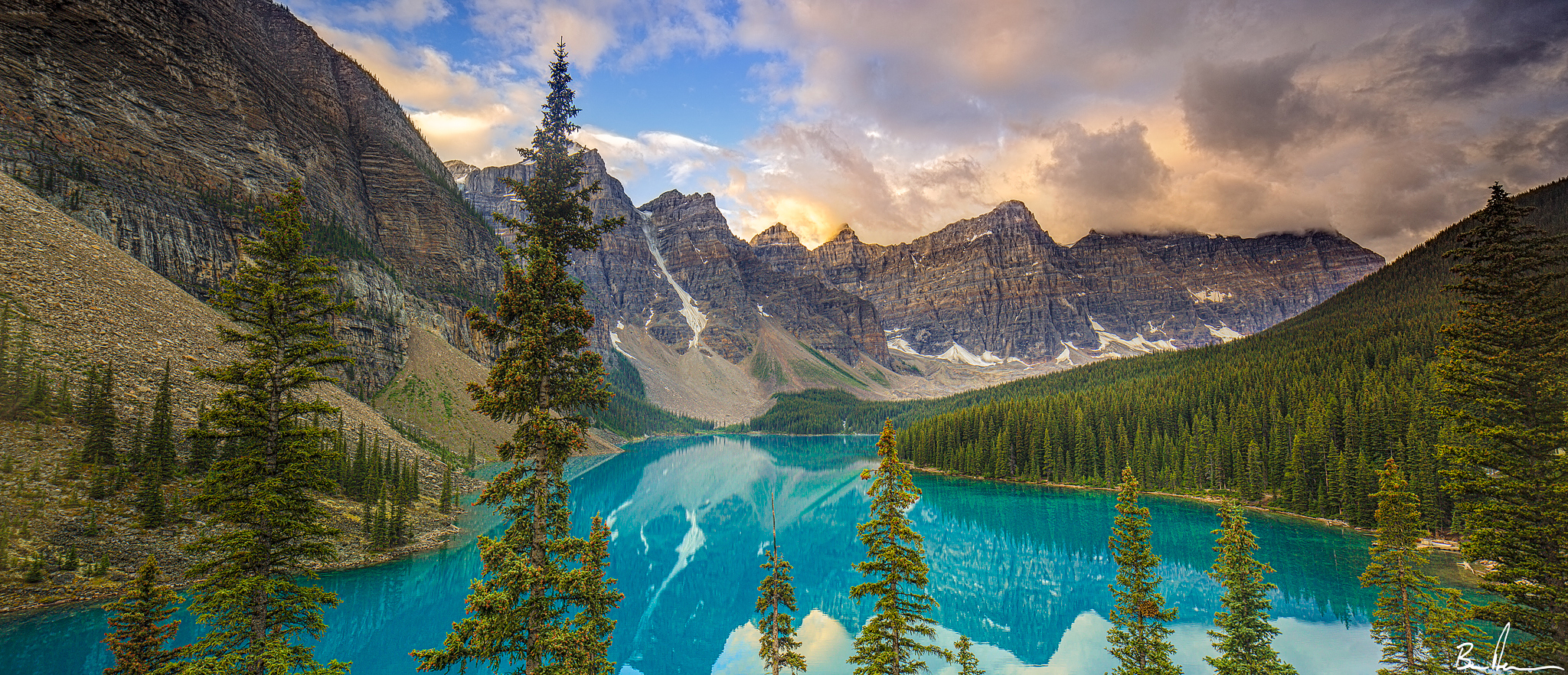 "Moraine Lake, Banff National Park in Alberta. The GPS was used to geotag the photograph. Enter the coordinates into google maps and it will come up with my exact location!   51°19'39"" N 116°10'48"" W"