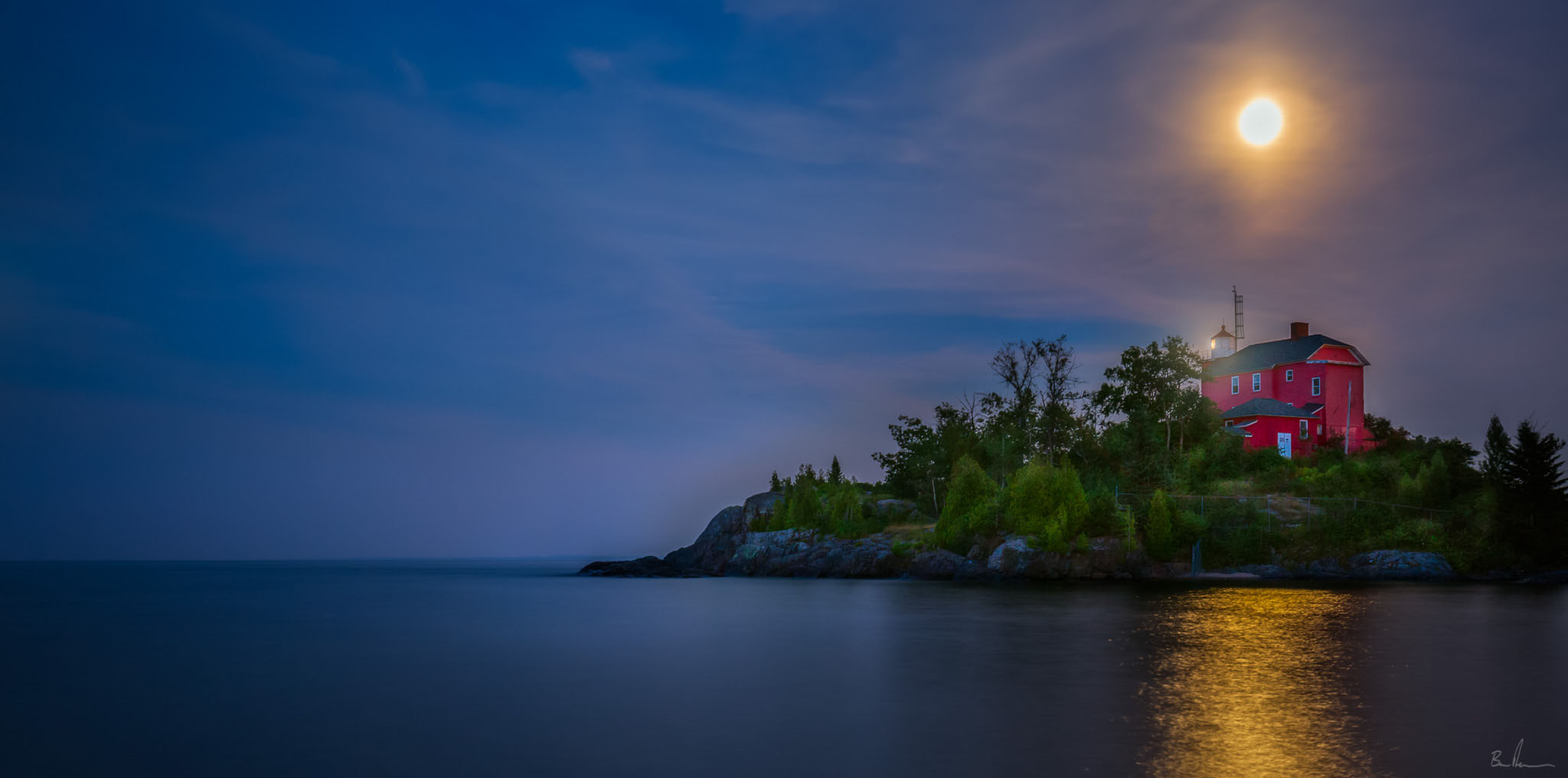 Here is an image from the Marquette Harbor Lighthouse. Developing my style takes time and is ever changing.