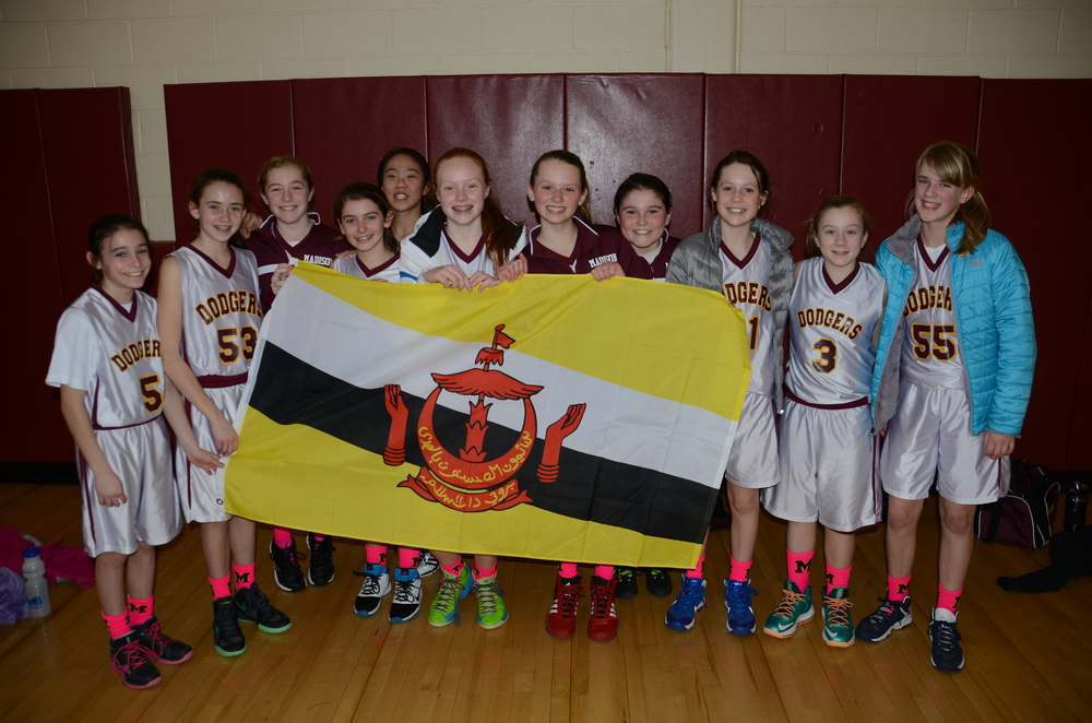 Young women in USA dedicate their basketball game to the people of Brunei (Feb 23).
