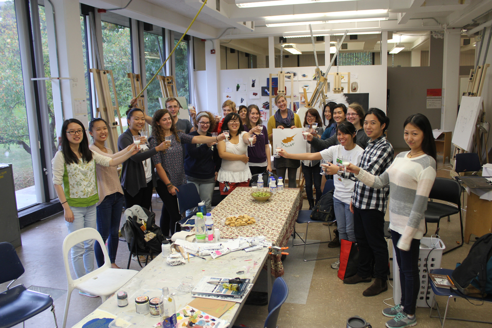 Students at the University of Rochester drink a traditional drink from Cyprus on Cyprus' independence day (Oct 1).