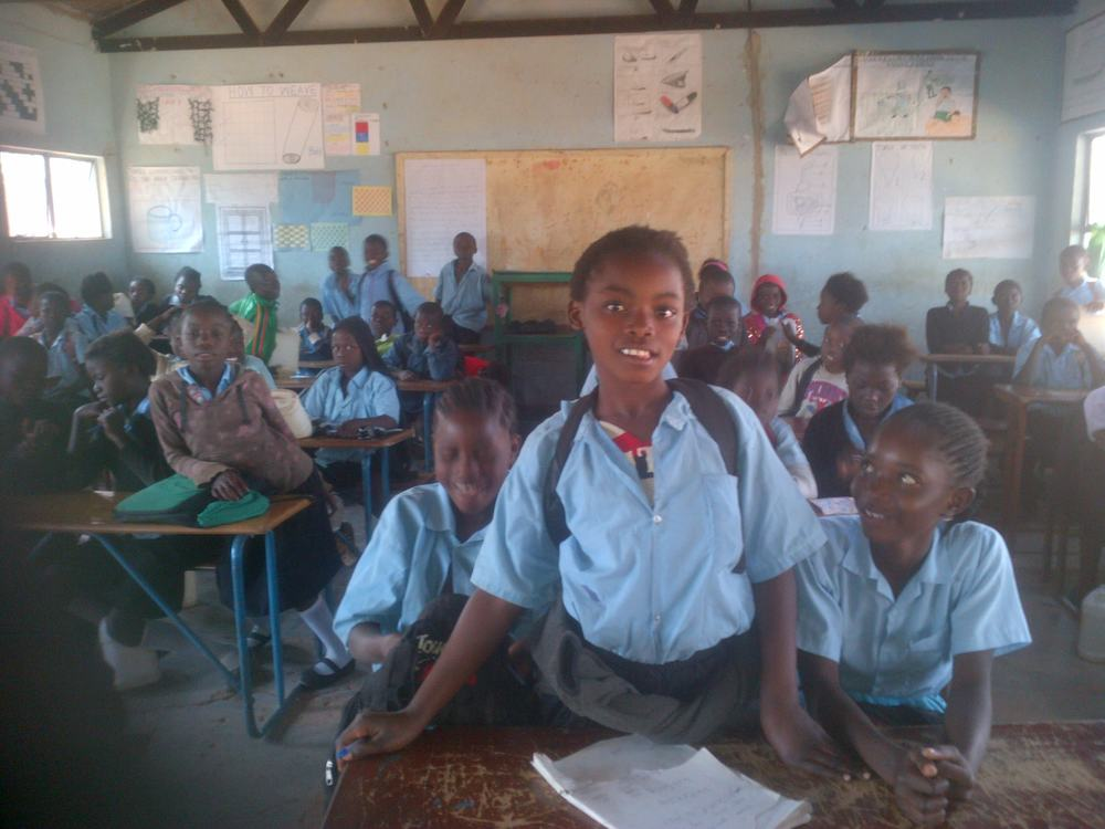 The Savannah Project in Zambia visited a classroom to teach a lesson about Uganda on Uganda's independence day.