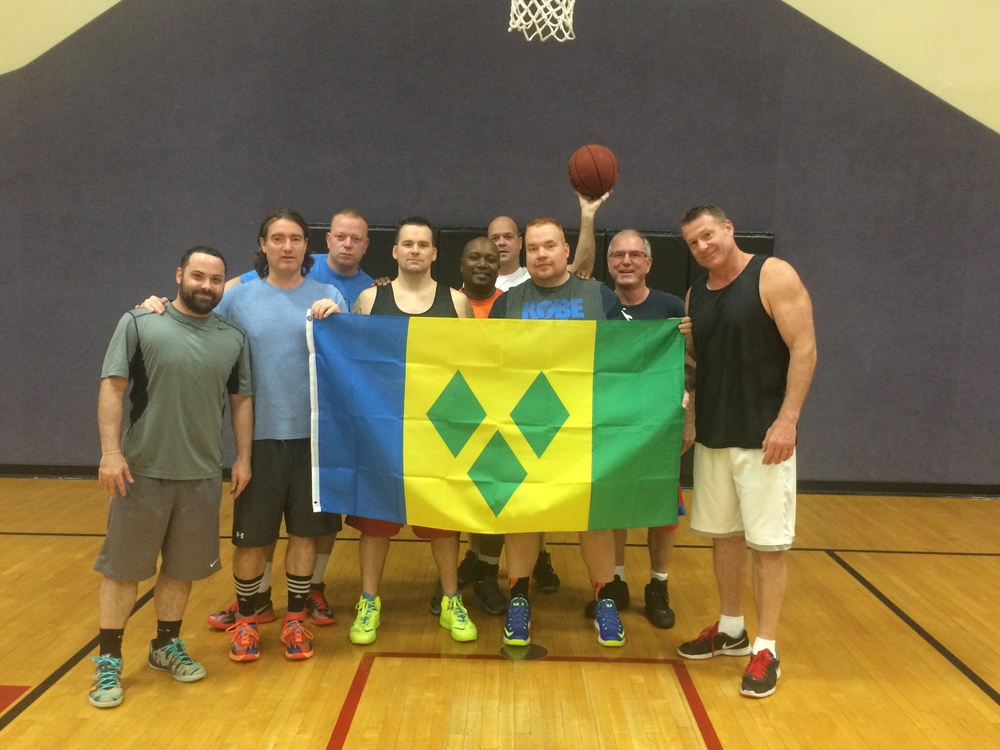 In America, Brian and his teammates dedicate their basketball game to the people of St. Vincent and the Grenadines on the independence day of the islands (Oct 27).