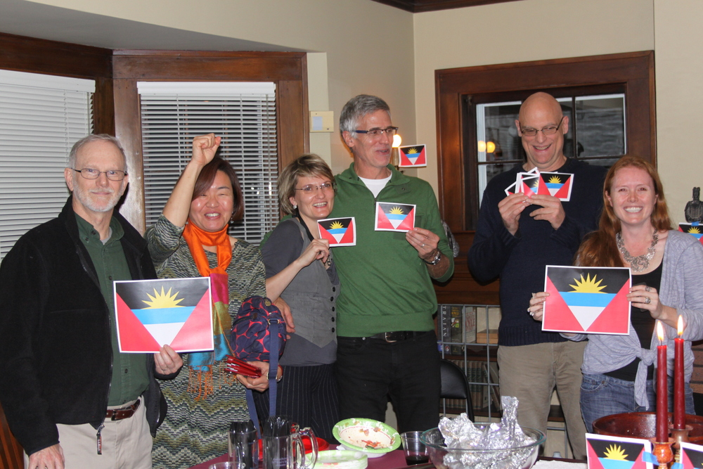 In the United States, Steve Manly hosts a special party with traditional food from Antigua & Barbuda on Antigua and Barbuda's independence day (Nov 1).