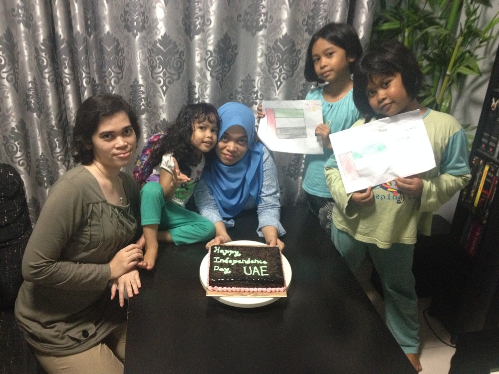 Fiza_mz and friends in Malaysia create a special birthday cake for the people of the United Arab Emirates on UAE's independence day (Dec 2).