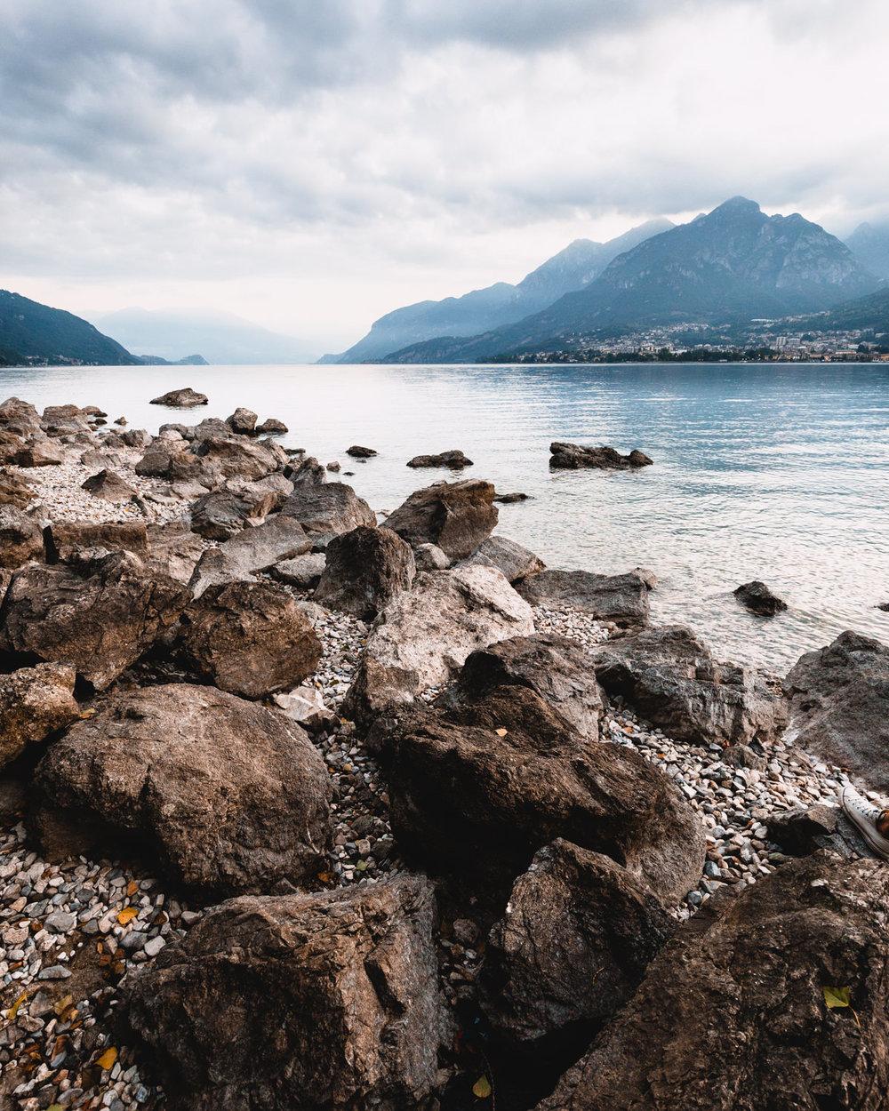 Paesaggio del lago di Como