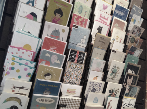 Selection of handprinted Greeting Cards