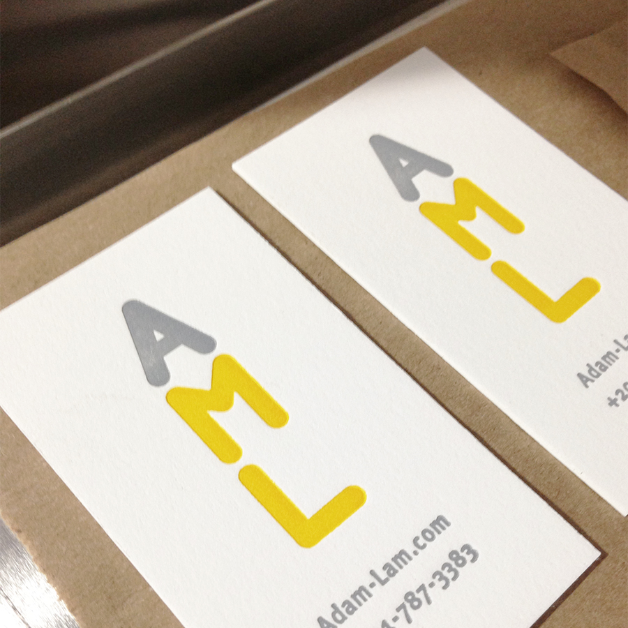 Custom Logo Design and Letterpress Business Cards