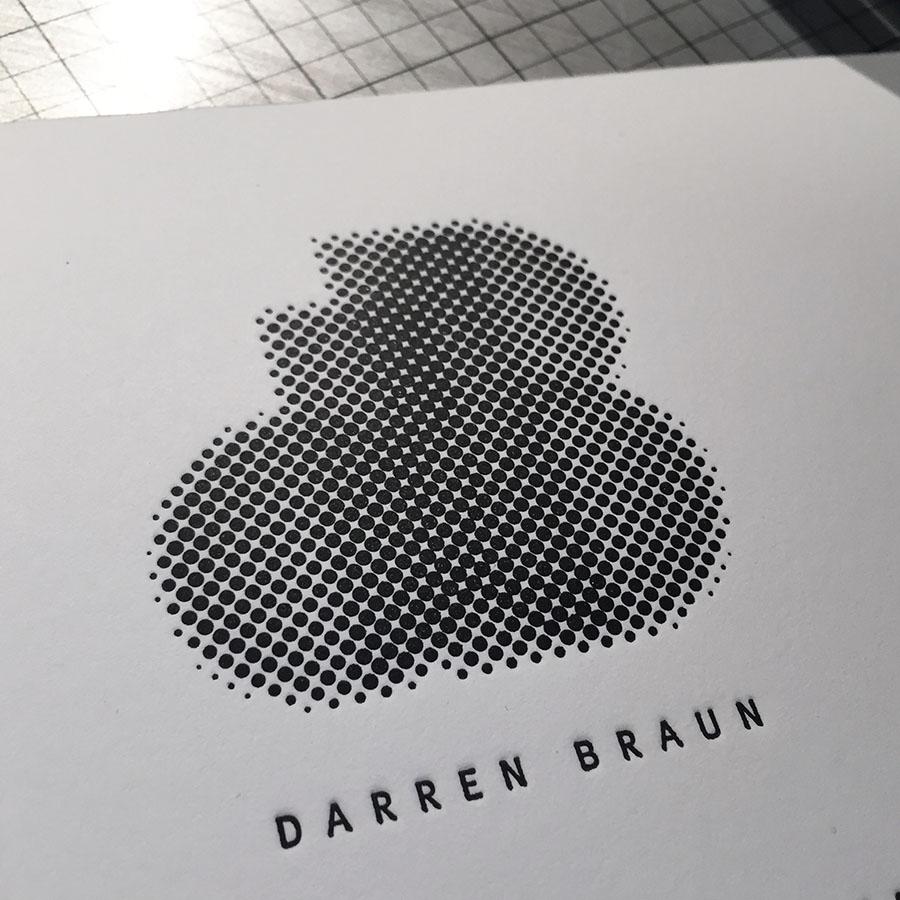 Branding, design and custom letterpress printing. Specs: Crane Lettra 220#C