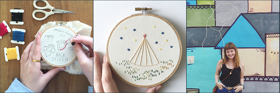 Embroidery Tepee Workshop with Allie Biddle