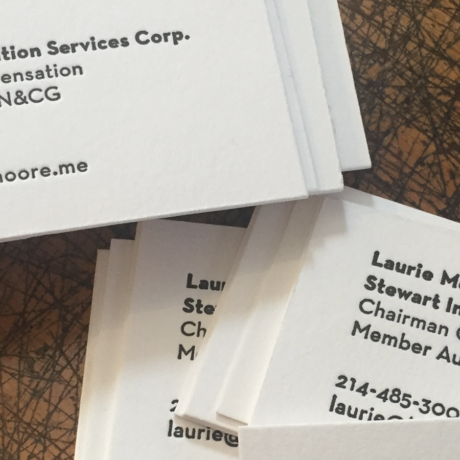 Design and letterpress printing client work. Specs: Crane Lettra 220#C