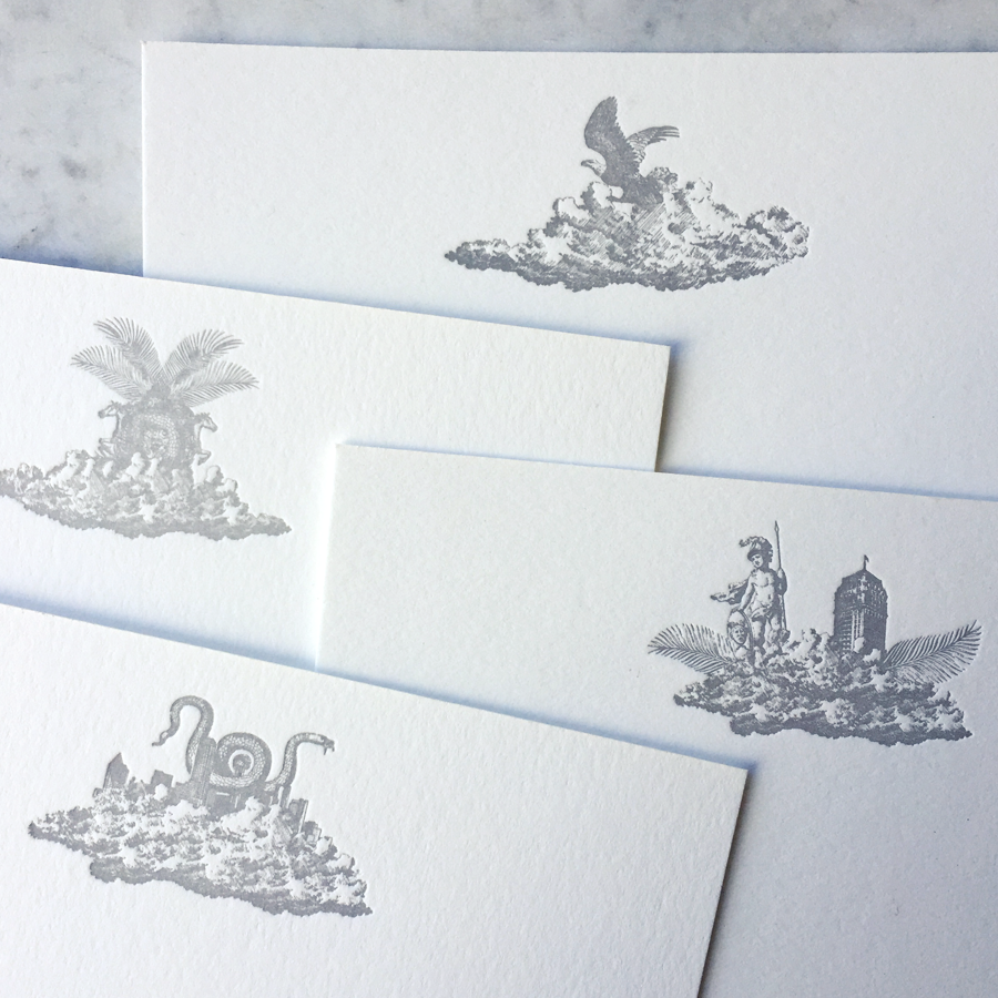 Custom letterpress printing. Specs: Crane Lettra 220#C