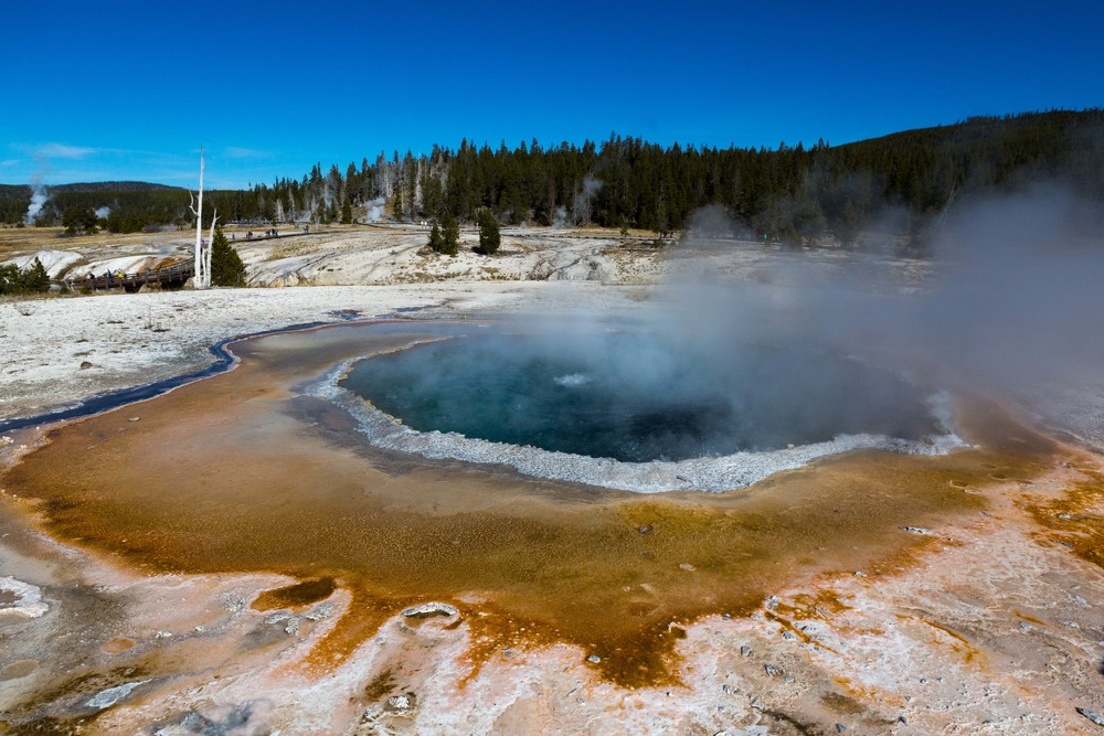 Thermal pool in Yellowstone National Park