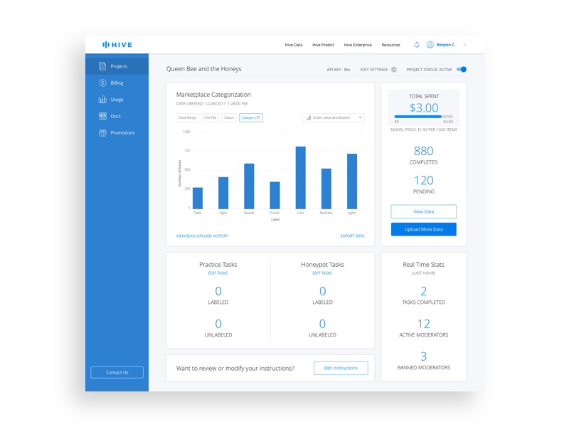 Dashboard Filters and Data Export