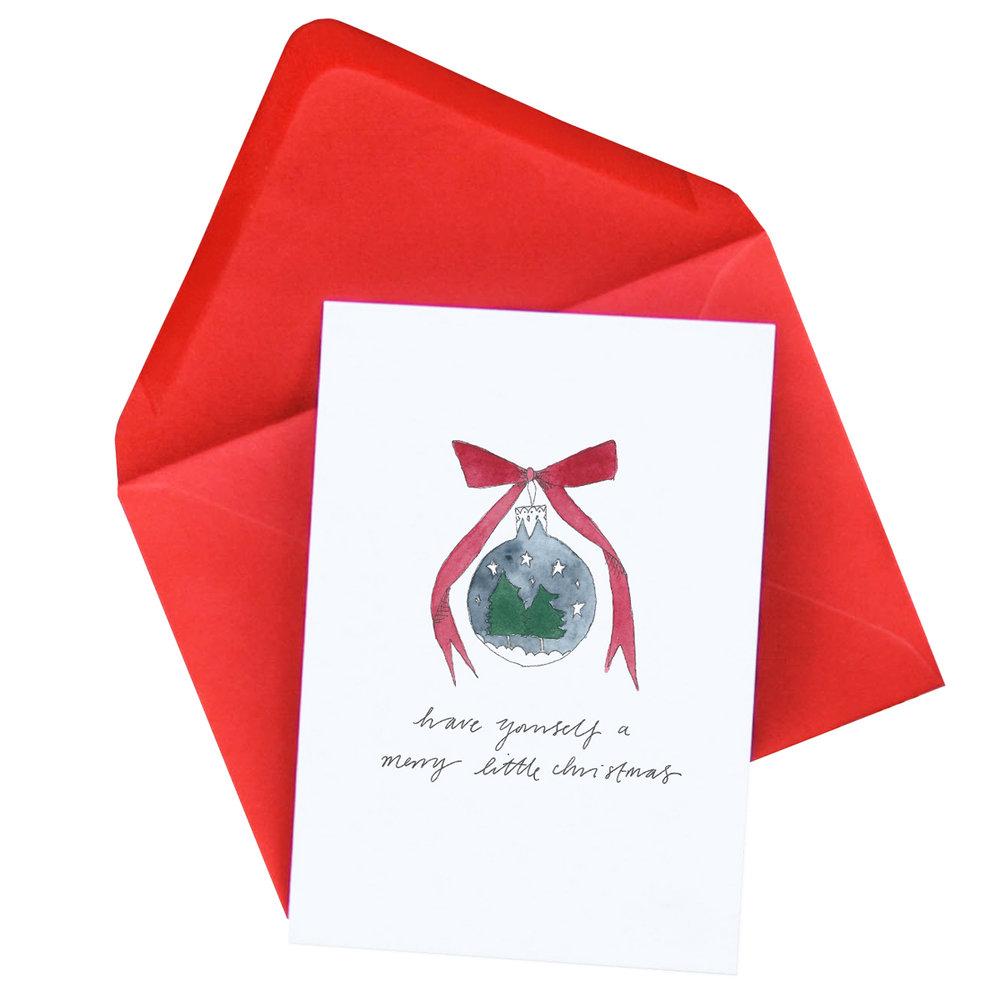 Bauble Christmas Card  £2.50