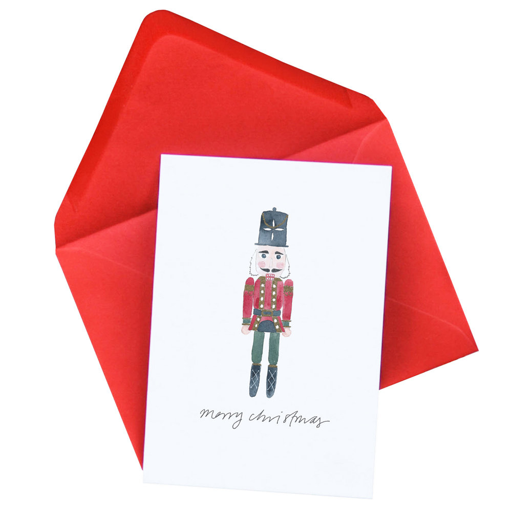 Nutcracker Christmas Card   £2.50