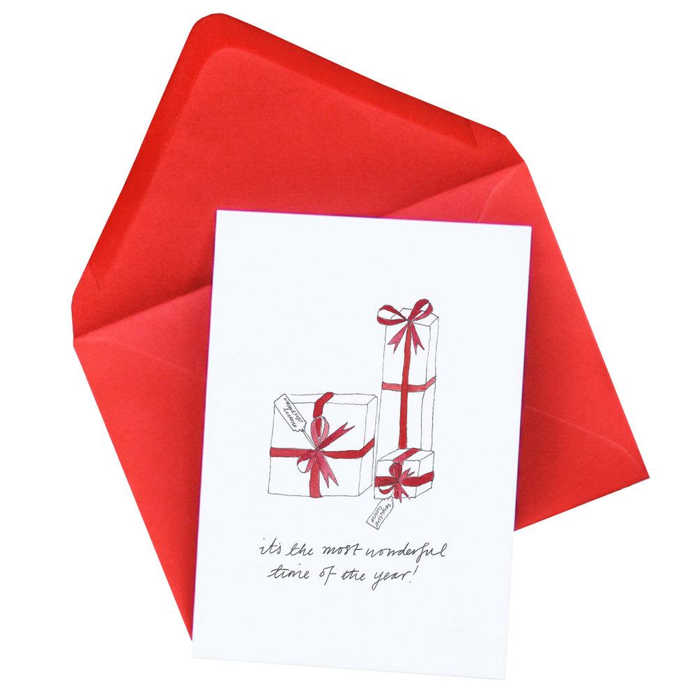 Presents Christmas Card  £2.50
