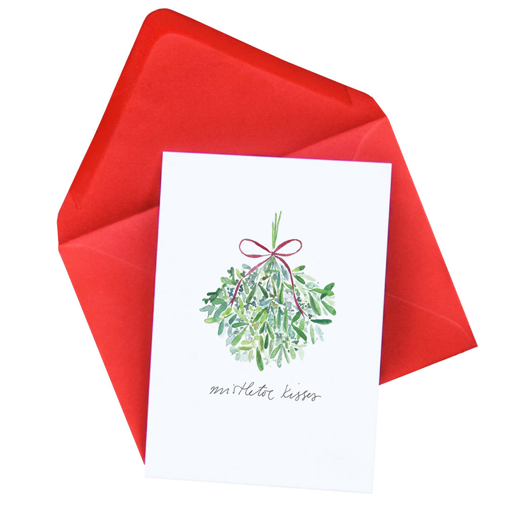 Mistletoe Christmas Card  SOLD OUT