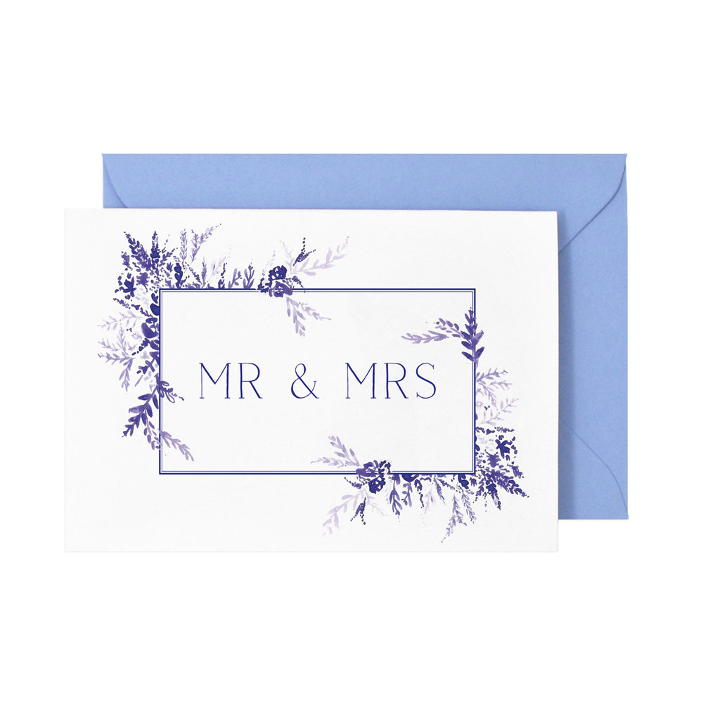 Mr & Mrs Card  £3.50