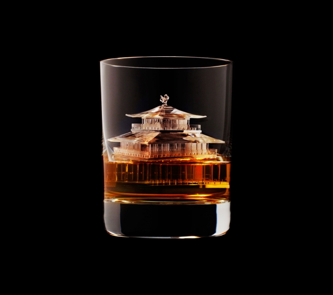 Suntory Whiskey | 3D ice cubes