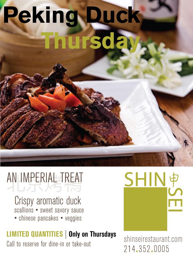 Shinsei Restaurant | Peking Duck Thursday